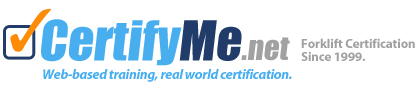 Online Forklift Certification and Training-CertifyMe.net