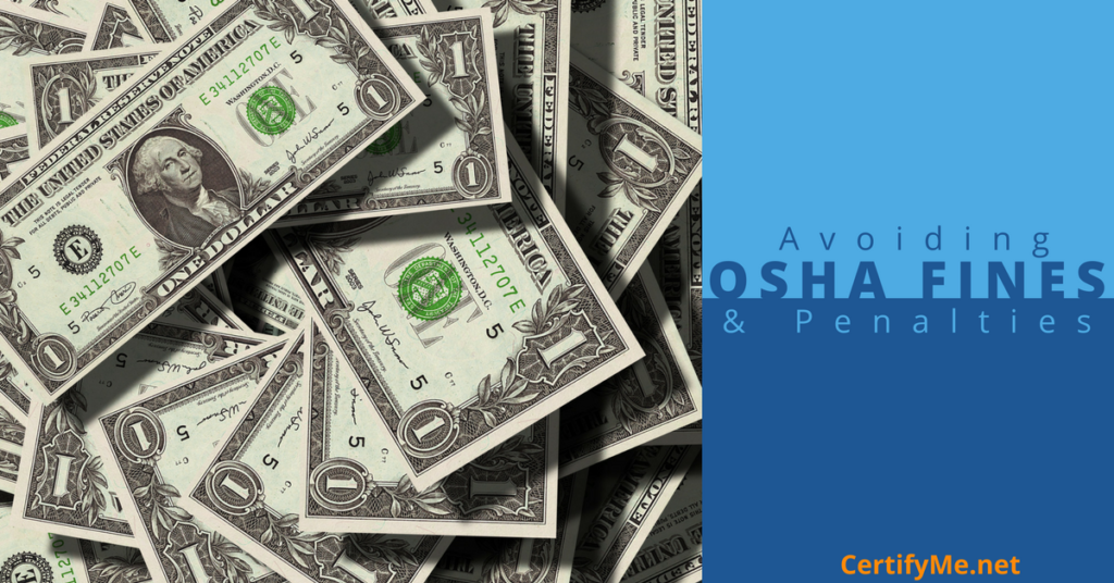 avoid osha fines and penalties