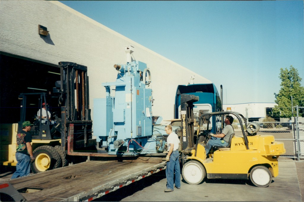 Forklift Being Loaded