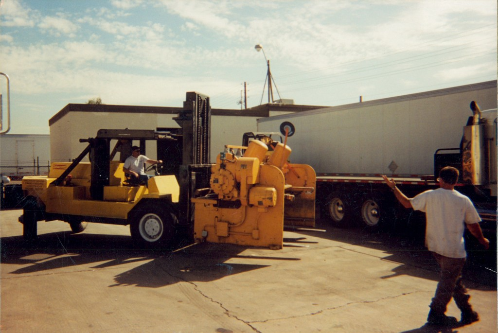 Forklift and a Guy Waving
