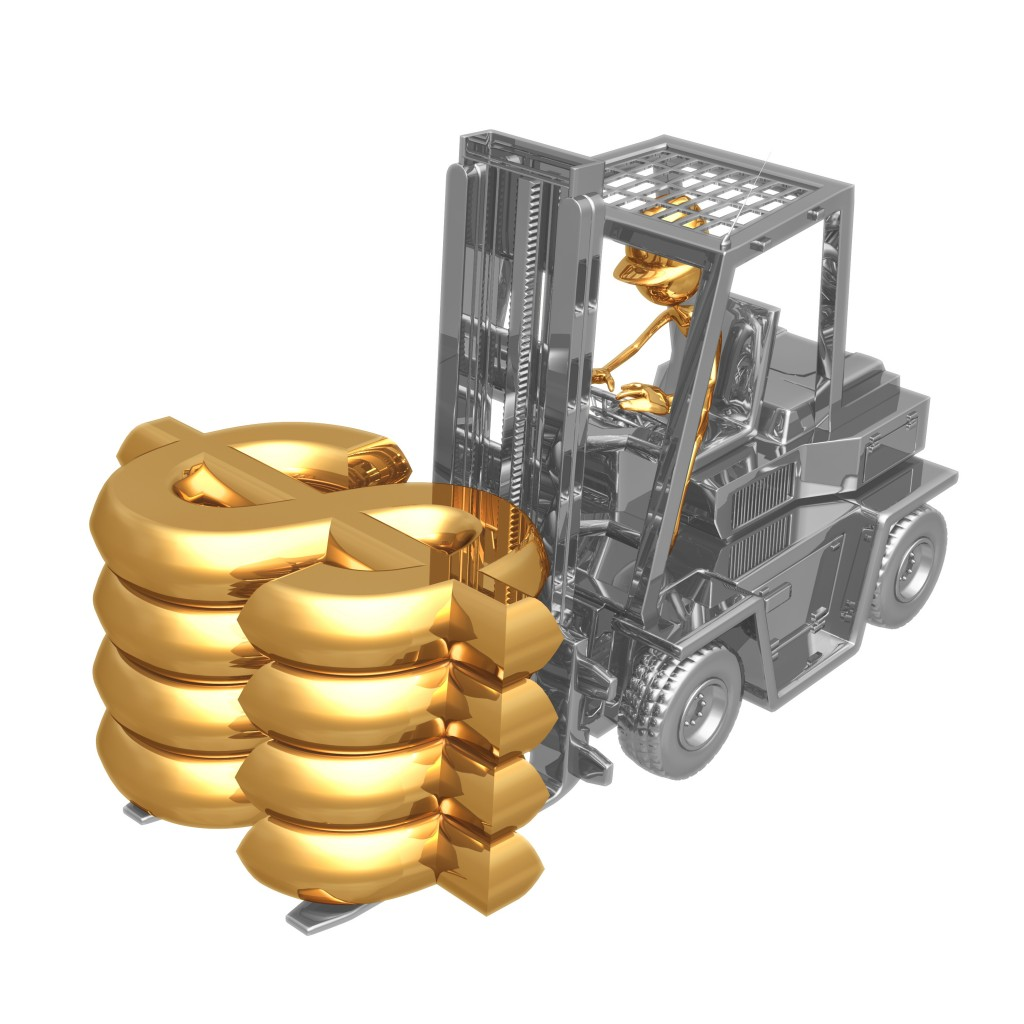 Forklift Carrying expensive Item