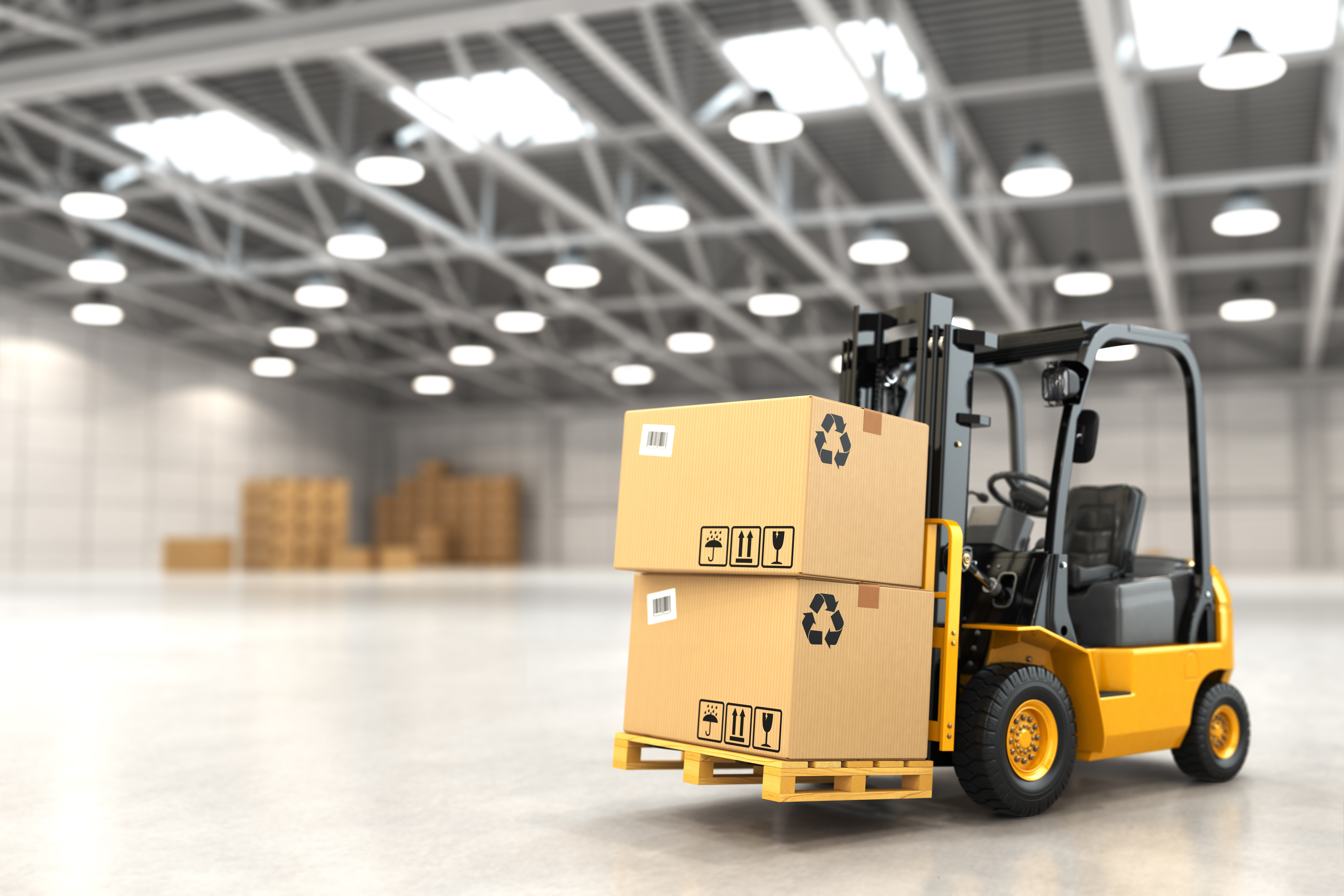 5 most important parts of a forklift certifyme forklift truck in warehouse or storage loading cardboard boxes xflitez Gallery