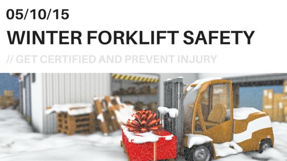 winter forklift safety