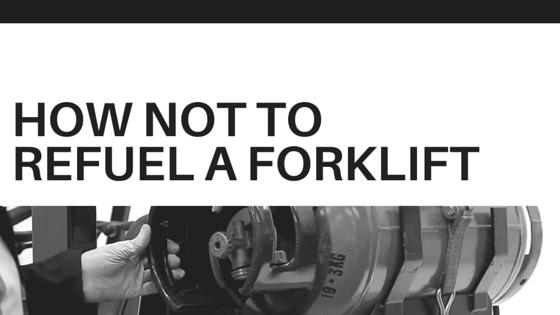 refuel a forklift
