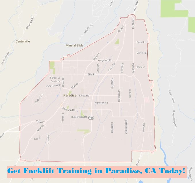 Paradise, CA Forklift Training