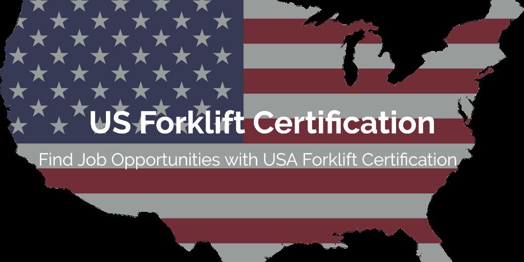 US Forklift Certification | Find Forklift Training in Your Area