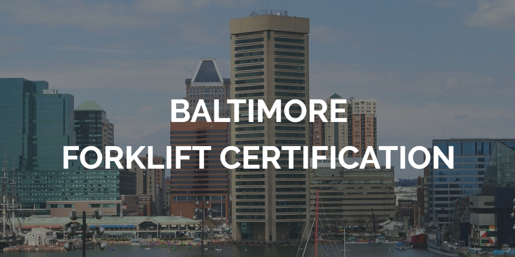 Forklift Certification Baltimore Get Forklift Certified Today