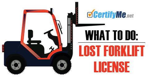 What to Do: Lost Forklift License, How to Get Forklift License ...