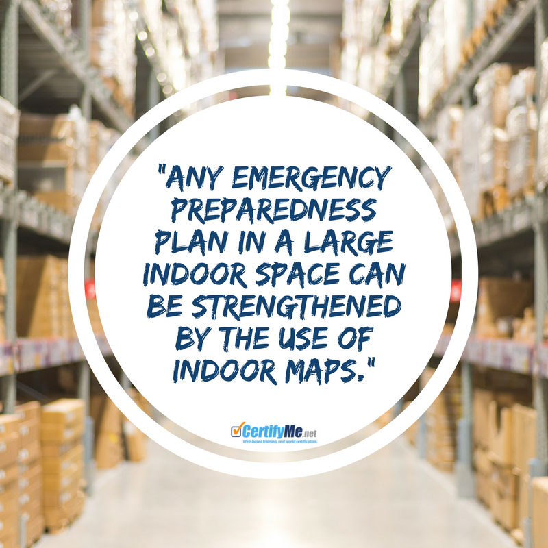 make an indoor map to be prepared for a warehouse evacuation