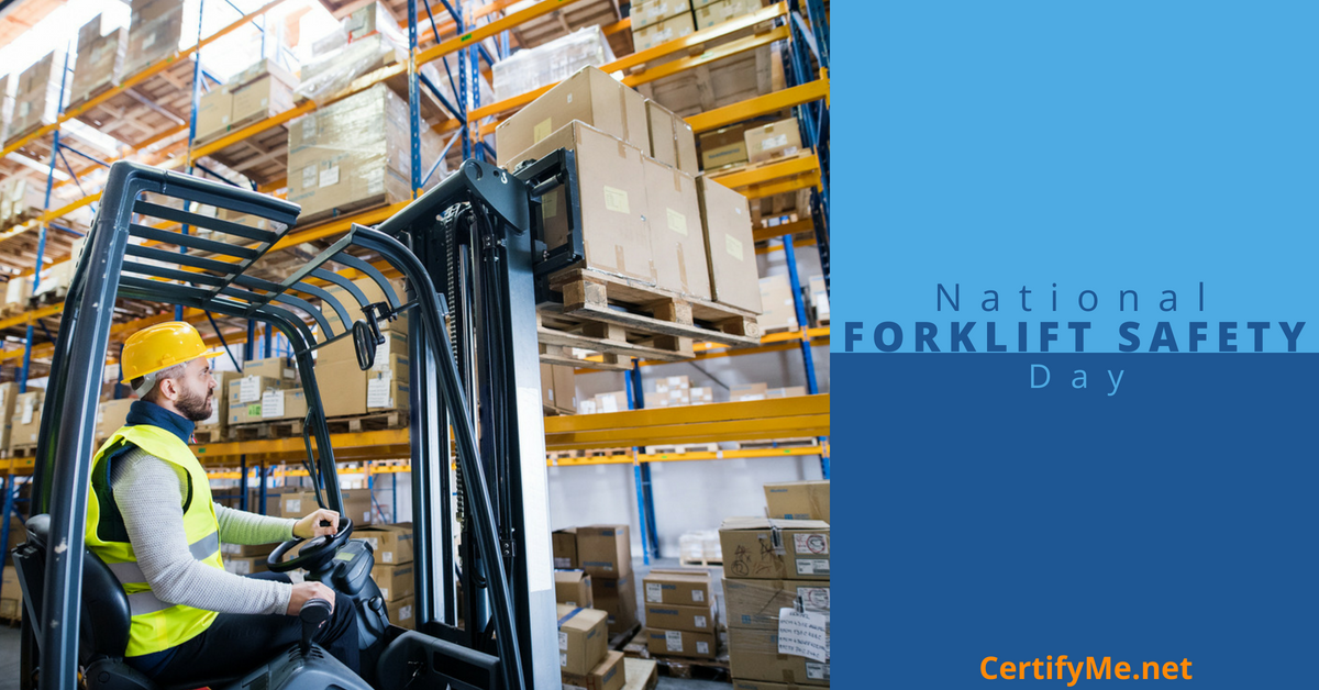 how to celebrate national forklift safety day