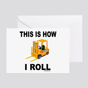 forklift greeting card