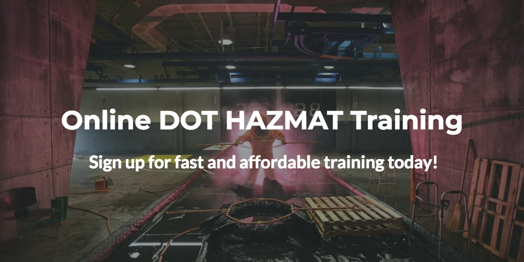 online dot hazmat training