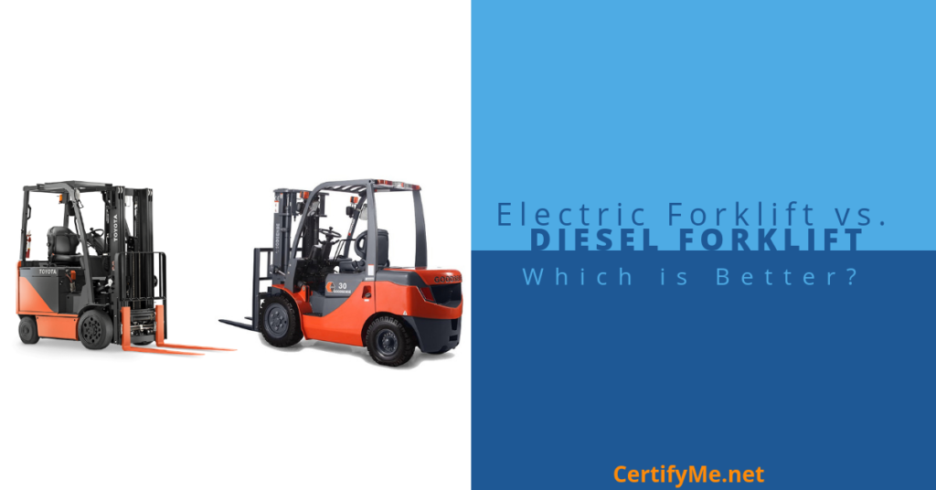 Diesel Forklift or Electric Forklift, Which to Use