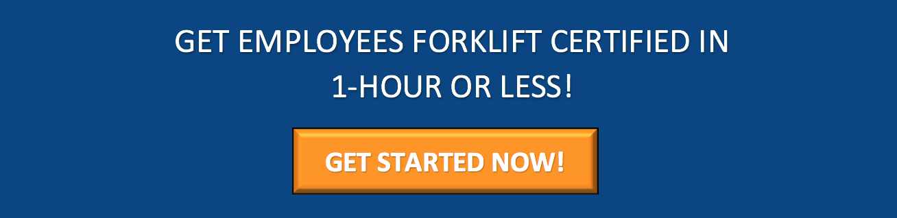 forklift certification in less than 1 hour